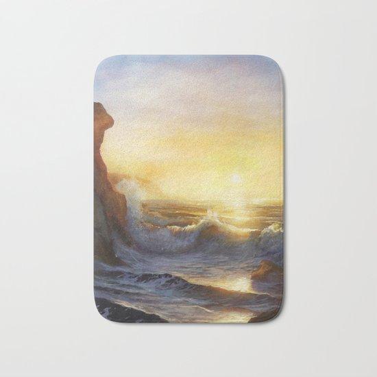 Cornish Sunset Seascape Bath Mat