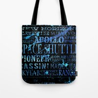 nasa Tote Bags featuring NASA Solar System Missions by astrographix