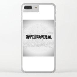 Supernatural monochrome Clear iPhone Case