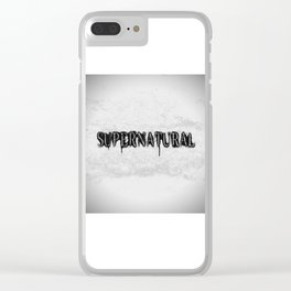 Supernatural monochrome Clear iPhone Case