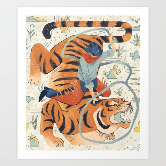 Texas Tiger Art Print