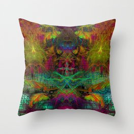 Extraterestrial Palace 5 Throw Pillow