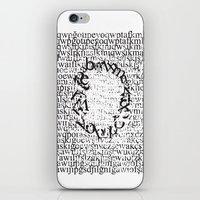 letters iPhone & iPod Skins featuring Letters  by Enver Yigit