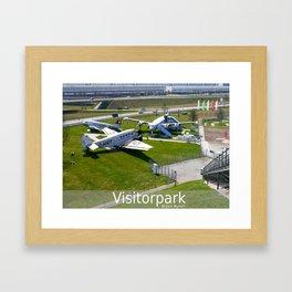 D - Airport Munich : Visitorpark Framed Art Print