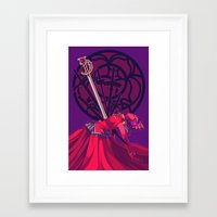 utena Framed Art Prints featuring though the fear keeps me moving, still my heart beats so slow... [utena] by [betamax]