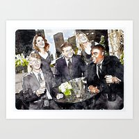 30 rock Art Prints featuring 30 ROCK by rcknroby