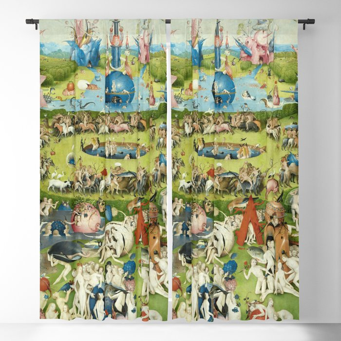 The Garden of Earthly Delights by Hieronymus Bosch Blackout Curtain by  fineearthprints