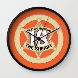 Sheriff Peyton (Orange) Wall Clock