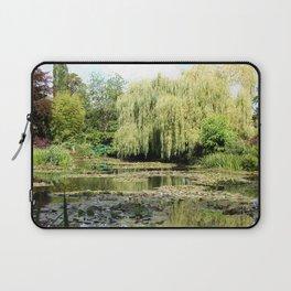 Willow Tree in Monet's Garden  Laptop Sleeve