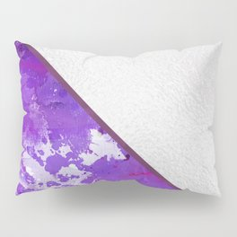 Abstract violet lilac white watercolor paint splatters Pillow Sham