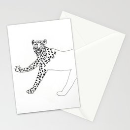 Half-dressed leopard Stationery Cards