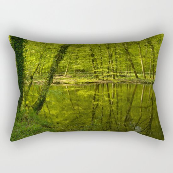 Forest lake pure relaxation for the Soul Rectangular Pillow