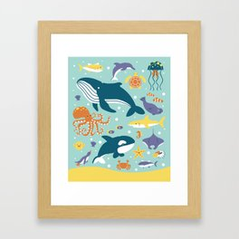 Sea Animals Framed Art Print