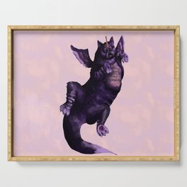 Cat Dragon Purple Serving Tray
