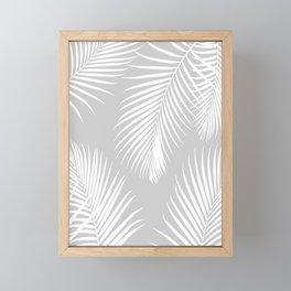 Gray Tropical Pattern Framed Mini Art Print
