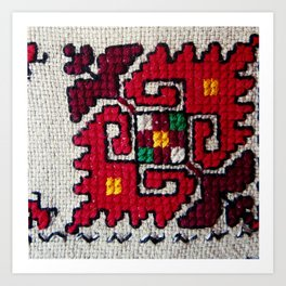 traditional bulgarian embrodeiry Art Print