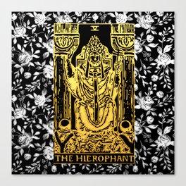 The Hierophant - A Floral Tarot Print Canvas Print