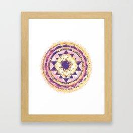 Golden Fire Sri Yantra Framed Art Print