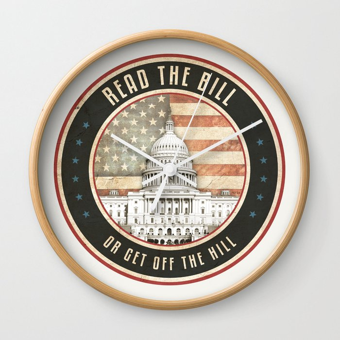 Read The Bill Wall Clock