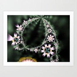 Flowering Vines Art Print