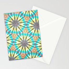 Twelve-Pointed Diagonal Stars Stationery Cards