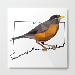 Connecticut – American Robin Metal Print