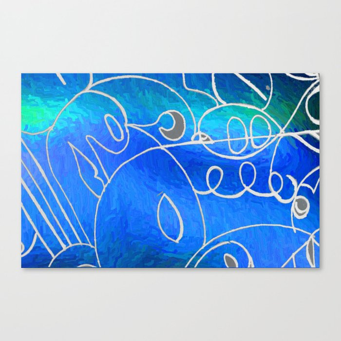 Curves at Seaside Canvas Print