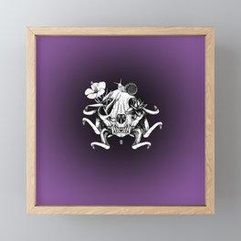 The Skull the Flowers and the Snail Framed Mini Art Print