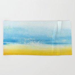 Waves and memories Beach Towel