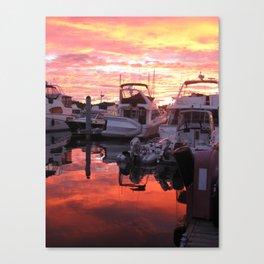 Yachts at Sunset! Canvas Print