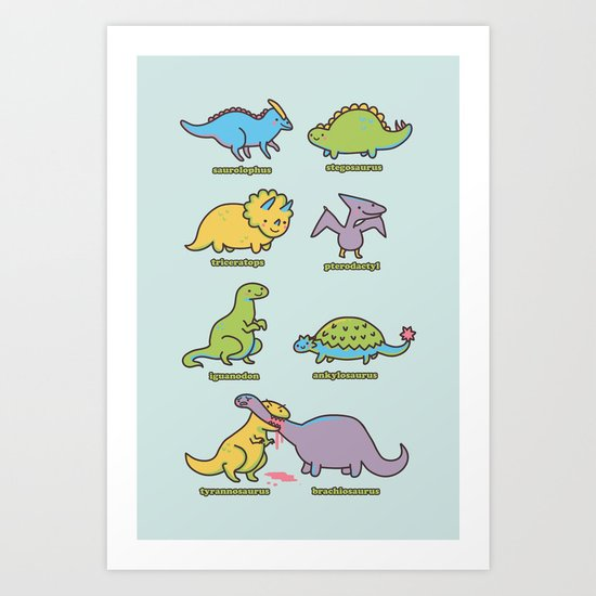 know your dinosaurs Art Print