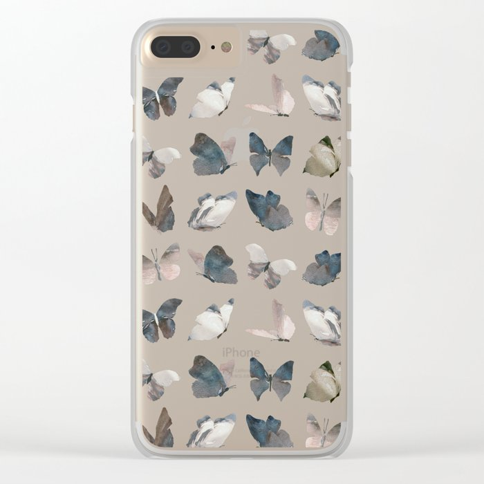 Butterfly Pattern 8 X 8 Clear iPhone Case