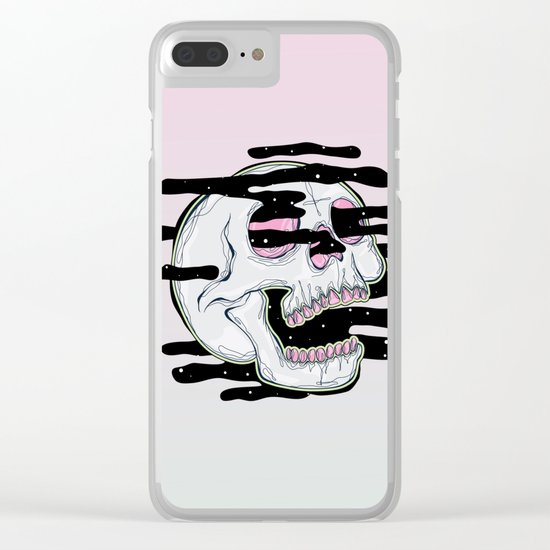 Skull Fuck Clear iPhone Case