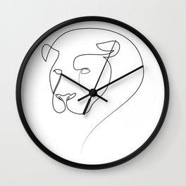 Linear Lion Wall Clock