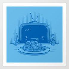 Brain eater Art Print