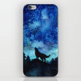 Wolf Galaxy iPhone Skin