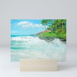 Aloha mai e Paako Beach Mākena Maui Hawaii Mini Art Print
