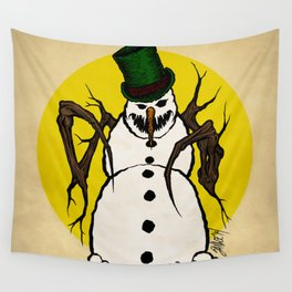 Sinister Snowman Wall Tapestry