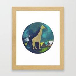 Happy Giraffe Framed Art Print