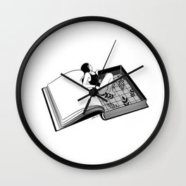 Drenched through my mind Wall Clock