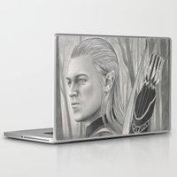archer Laptop & iPad Skins featuring Elf Archer by aurelia-art