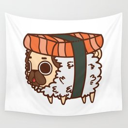 Puglie Salmon Sushi Wall Tapestry