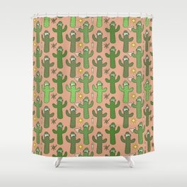 Chemistry Cacti Shower Curtain