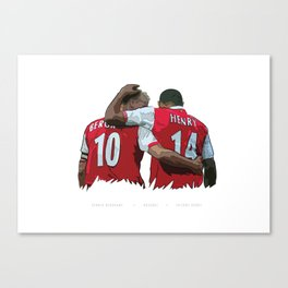 Dennis Bergkamp & Thierry Henry - Arsenal FC Print Canvas Print