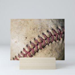 Old Baseball 8 Mini Art Print
