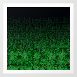 Reboot II GREEN Art Print