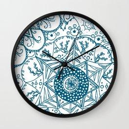 Beth Mandala teal Wall Clock