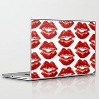 lip Laptop & iPad Skins featuring Lip Lines by Regan's World