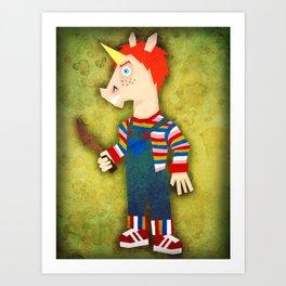 Chucky Unicorn Art Print