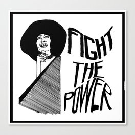 Fight the Power: Angela Davis Canvas Print